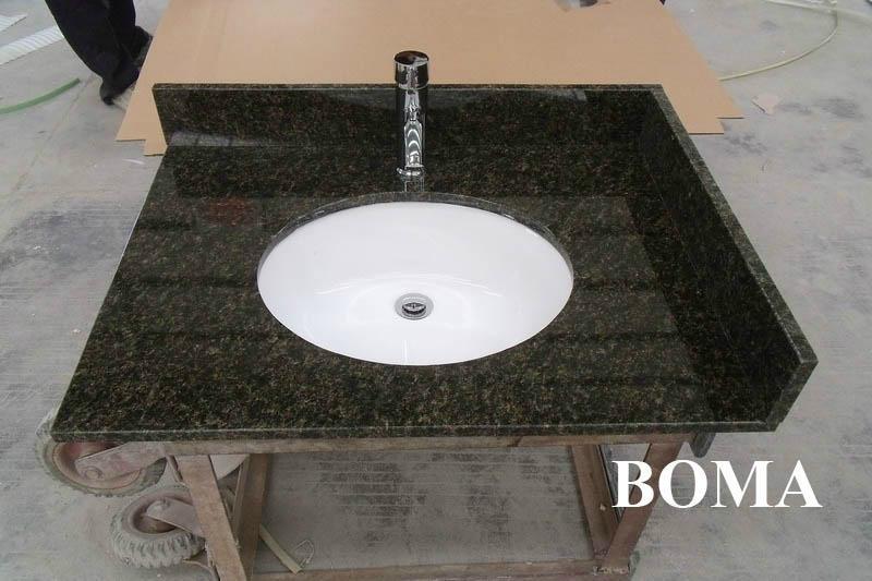 Verde Ubatuba Granite Vanity Tops - BOMA (C