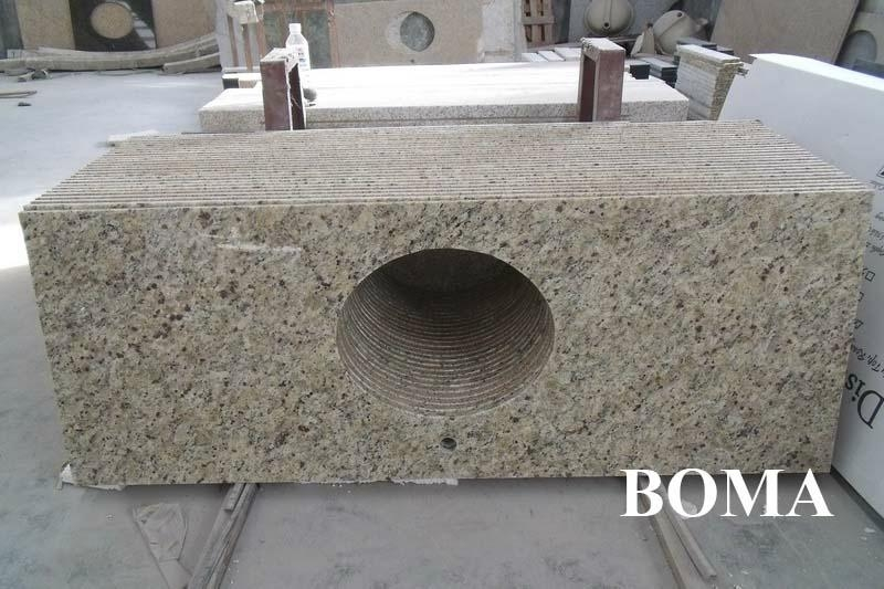 Golden Sand Granite Bathroom Counter Tops 2
