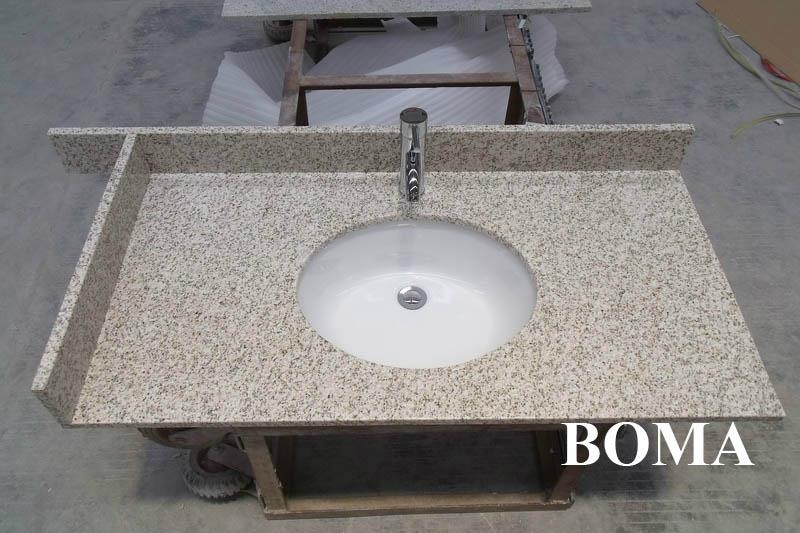 Golden Sand Granite Bathroom Counter Tops 4