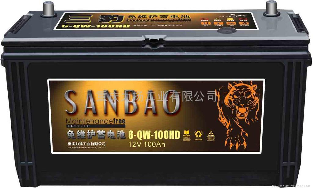 Maintenance Free Car Battery 6 Qw 100hd Sanbao China