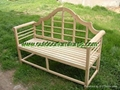 park bench(oak teak wood)