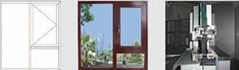 Thermal insulation break bridge aluminium alloy window