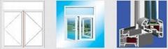 Color plastic steel window