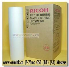 RICOH MASTER - Compatible Thermal Master - Box of 2 JP-75MC B4 A4 Masters