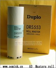 DUPLO roll Masters DRS553 A3 220 Masters X 2 rolls , Heat-Sensitive Stencil Pape