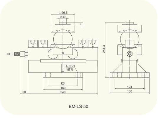 Double ended beams load cell (BM-LS) 2