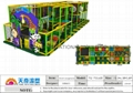 newest  colorfully  softy play equipment  with ball pool ,trampoline 4