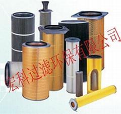 (宏科)供应进口国产木浆纤维材质除尘滤筒