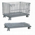 Metal folding warehouse cage 2