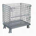 Metal folding warehouse cage 3
