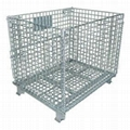 Metal folding warehouse cage 4