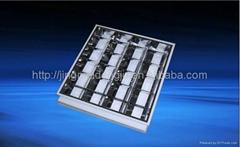 grille lamp, grille light, grille lamp fixtures, fluorescent light fixtures 4x18