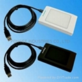 Desktop RFID USB card reader(Support 125KHz EM / 13.56MHz Mifare)