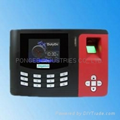 Fingerprint time recording access controller