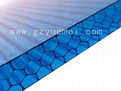 honeycomb polycarbonate sheet for roof, canoy