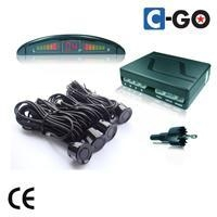 Rear & Front LED parking sensor with 8 sensors-Big LED Display
