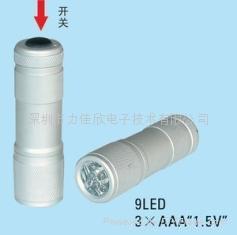 广告促销礼品手电筒9LED手电筒迷你款式 1