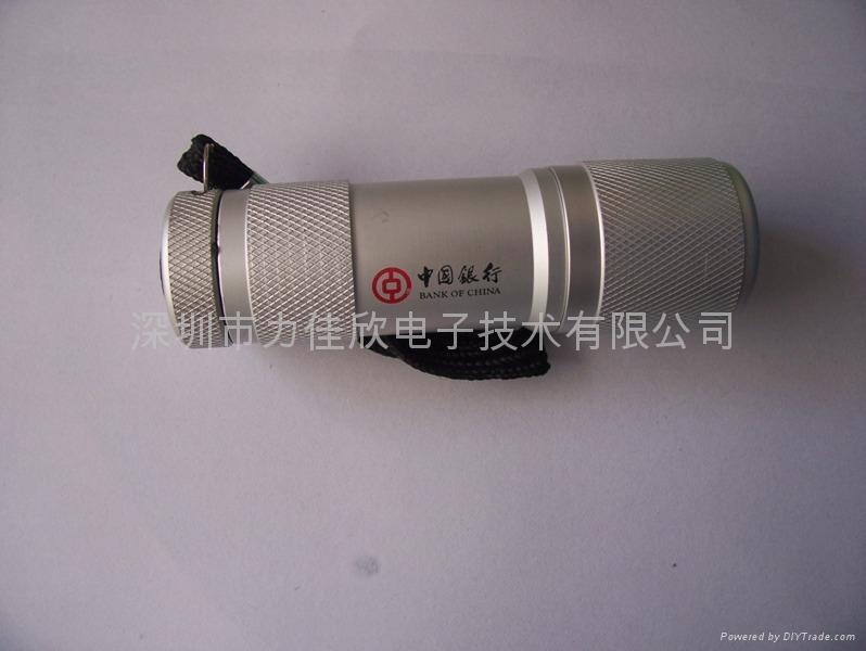 广告促销礼品手电筒9LED手电筒迷你款式 3
