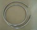 Shining silver shower hose