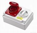 Industrial socket/panel socket