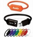 wirstband wrist /Silicone usb flash disk 4