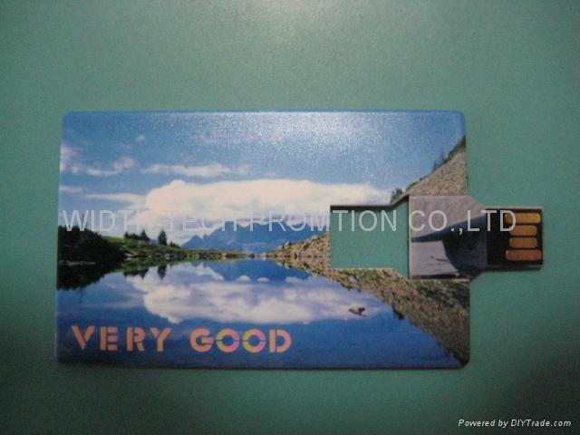 credite card shapes usb flash drive 4