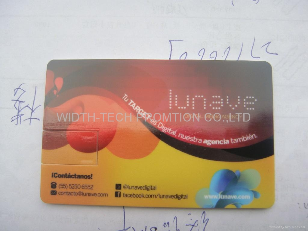 credite card shapes usb flash drive 5