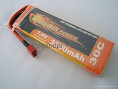 Lithium polymer Battery 3600mAh for Racing Car