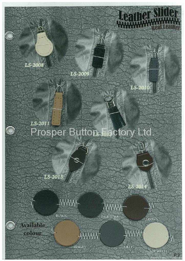 Real  Imitation Leather slider 2