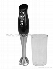 Stainless Steel Stick Mixer with Mixing Cup - Black