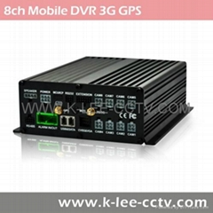8ch Vehicle CCTV System Mobile DVR with 3G GPS WIFI G-sensor Support