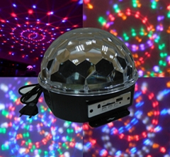 6 LED Crystal Magc Ball with MP3 Player and remote contol