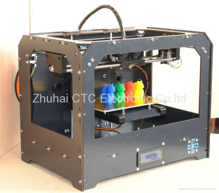 Black Bizer CTC 3D printer 3D Drucker machine with 2 head,