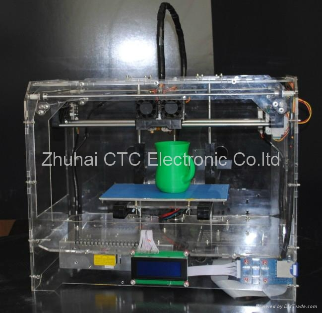 CTC Mercury 3D printer Transparent Casing with dual-nozzle SD card 2
