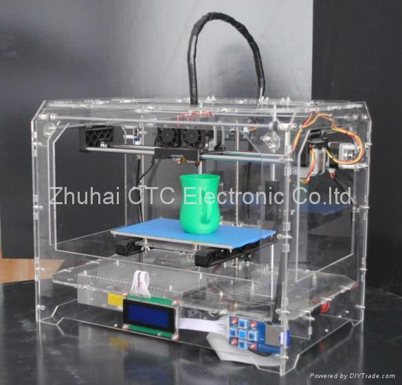 CTC Mercury 3D printer Transparent Casing with dual-nozzle