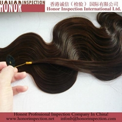 Pre shipment inspection for wig hair