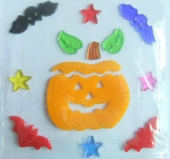 Favorites Compare Halloween Adhesive Toy Gel Sticker for Windows Transparent