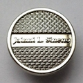 Plastic Insert Jeans Button Shiny Nickle