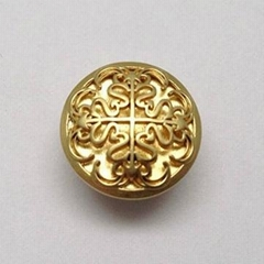 Single Pin Jeans Button Shiny Gold Color