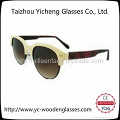 2014新款男女時尚木質竹木太陽鏡  YS0211