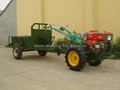 Two wheel hand walking tractor with trailer