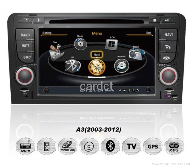 Car DVD Player for Audi A3 With GPS Navi Radio BT iPod 3G WIFI 1