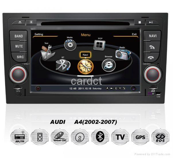 Car DVD Player For Audi A4 With GPS Navi Radio BT iPod 3G WIFI 1