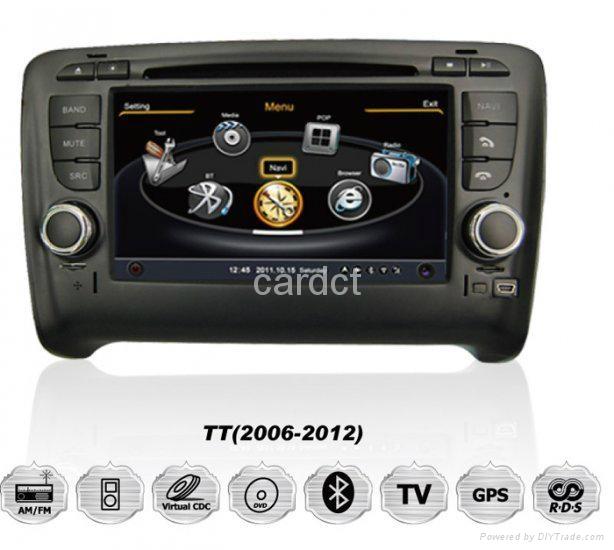 Car DVD Player For Audi TT With GPS Navi Radio BT iPod 3G WIFI 1