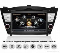Car DVD Player For Hyundai iX35 Tucson With GPS Navi Radio BT iPod 3G WIFI