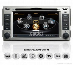 Car DVD Player For Hyundai Santa Fe With GPS Navi Radio BT iPod 3G WIFI