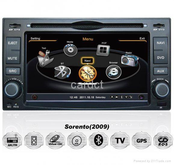 Car DVD Player For Kia Cerato Sorento With GPS Navi Radio BT iPod 3G WIFI 1