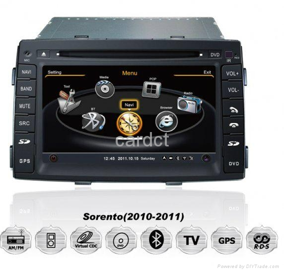 Car DVD Player For Kia Sorento With GPS Navi Radio BT iPod 3G WIFI 1
