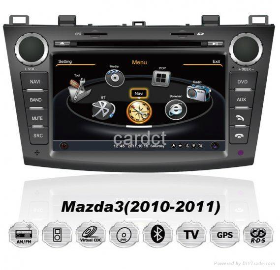 Car DVD Player For Mazda 3 With GPS Navi Radio BT iPod 3G WIFI 1