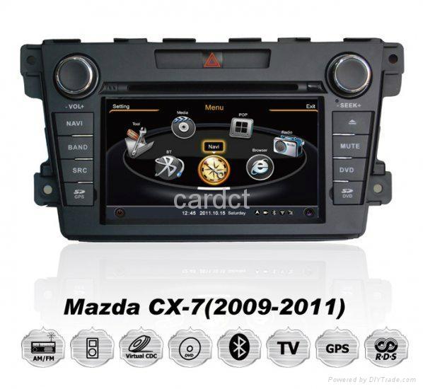 Car DVD Player For Mazda CX-7 With GPS Navi Radio BT iPod 3G WIFI 1